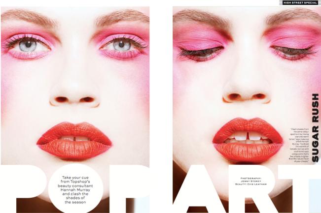 Stylist: Pop Art shoot with Hannah Murray for Topshop