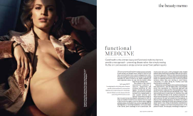 Porter Magazine Functional Medicine by Evie Leatham